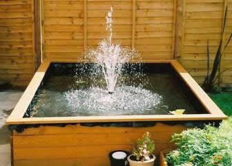 Tropical fish centre building a garden pond for Diy raised pond ideas